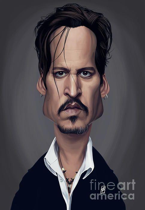 Johnny Depp art   decor   wall art   inspiration   caricature   home decor   idea   humor   gifts