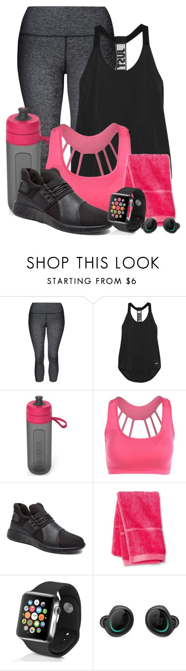 """""""New Years Resolutions"""" by darksyngr ❤ liked on Polyvore featuring Lorna Jane, NIKE, Brita, Threshold and Apple"""