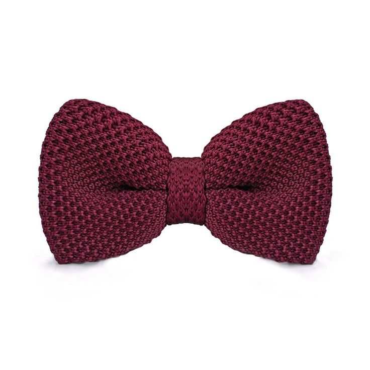 Knitted Bow Ties F-309 Mens Neck Tie for Men Business Wedding Suits Solid Wine Red Pajaritas Hombre Vintage Bow Ties