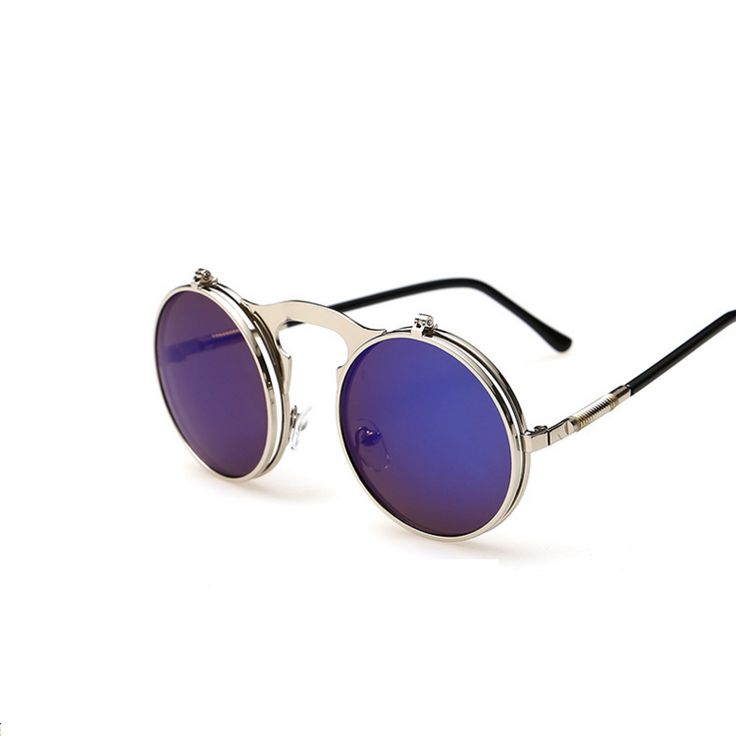 Steampunk Round Flip Sunglasses Eyewear Type: Sunglasses Item Type: Eyewear Department Name: Adult Gender: Women Style: Round Lenses Optical Attribute: Mirror, Anti-Reflective, UV400 Frame Material: A