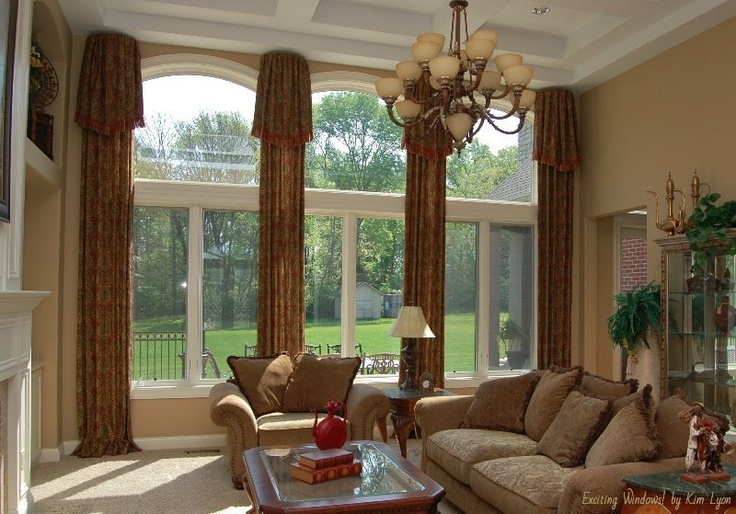 17 best images about two story drapery ideas on pinterest Great room curtain ideas