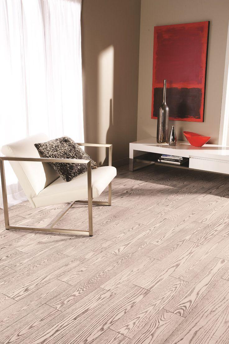 Hardwood flooring Preverco - Modern Nook – Red Oak,  brushed texture, color Zebra