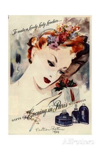 1940s USA Bourjois Magazine Advertisement Art Print