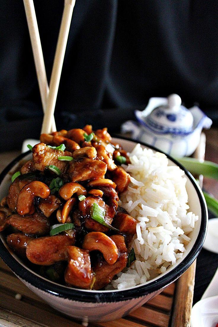 Gong bao csirke kesudióval