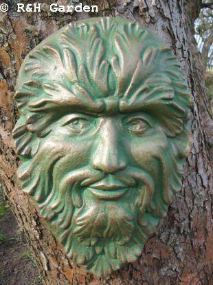 Nice Large Green Man Wall Plaque/garden Ornament By Ru0026H Garden