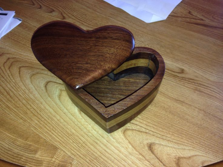 A little heart shaped bandsaw box I made for my Katie :) <3