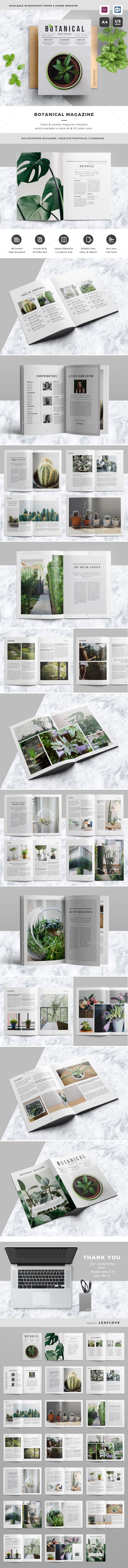 Botanical Magazine. Download: https://graphicriver.net/item/magazine/19260192?ref=thanhdesign