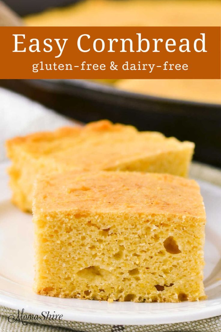 The Best Gluten Free Sweet Cornbread Recipe Dairy Free Recipe Gluten Free Cornbread Dairy Free Cornbread Recipe Gluten Free Cornbread Recipe