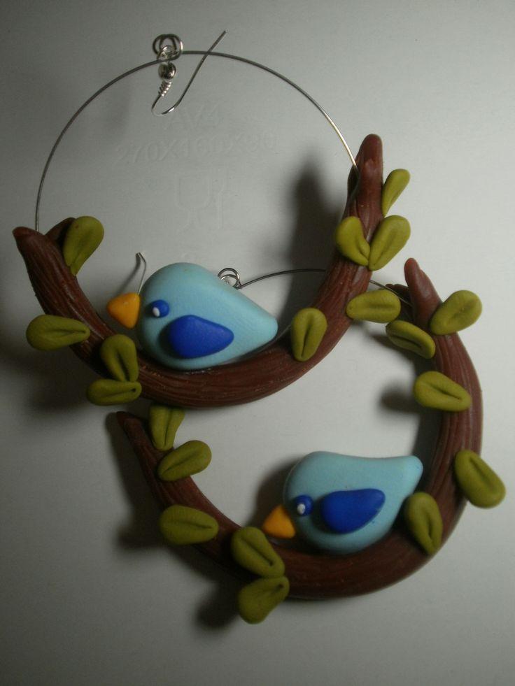 fimo polymer clay orecchini earrings