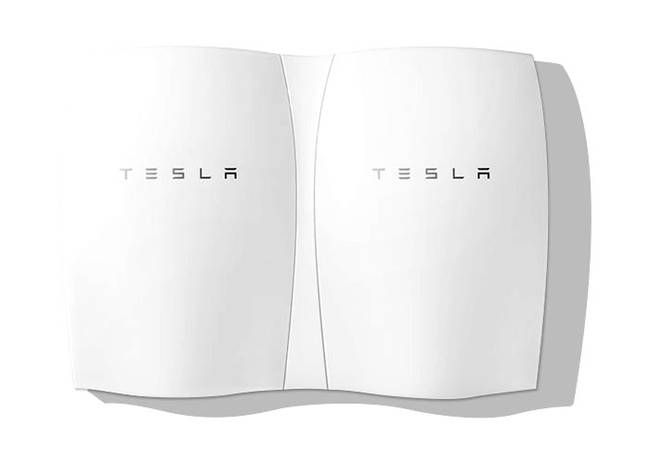 Tesla Powerwall: Game-changing batteries for homes and businesses, starting at $3,000 and unveiled the Tesla Powerwall storage system for homes and businesses. It's a 220-pound flat battery pack that hangs on a wall, as you can see on the image at the top of this article. It does three things: It can store solar energy if you have solar panels, second, it can store energy from the grid off-peak when power is cheapest and release it when power is most expensive
