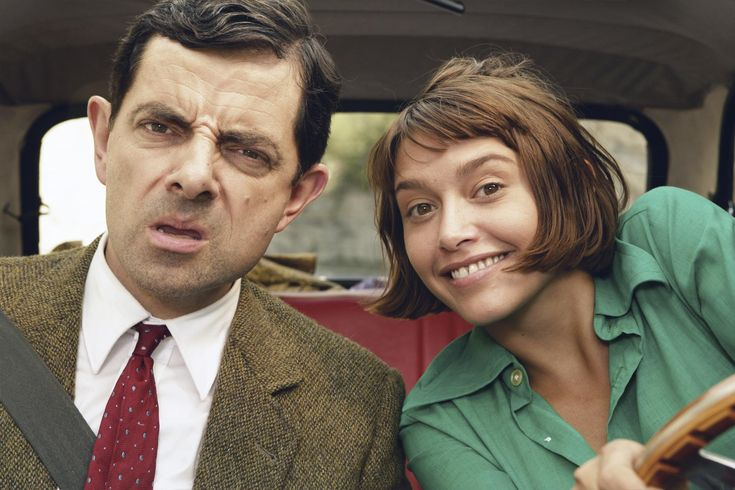 Rowan Atkinson and Emma de Caunes in Mr. Bean's Holiday