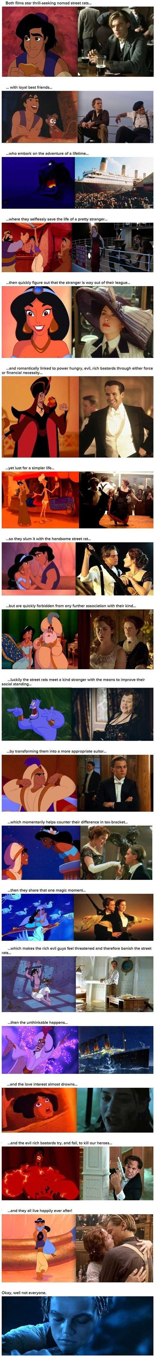 Aladdin vs Titanic - funny pictures - funny photos - funny images - funny pics - funny quotes - #lol #humor #funny