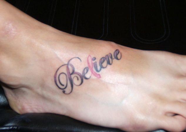 25 best ideas about believe tattoos on pinterest faith for Faith cancer tattoos