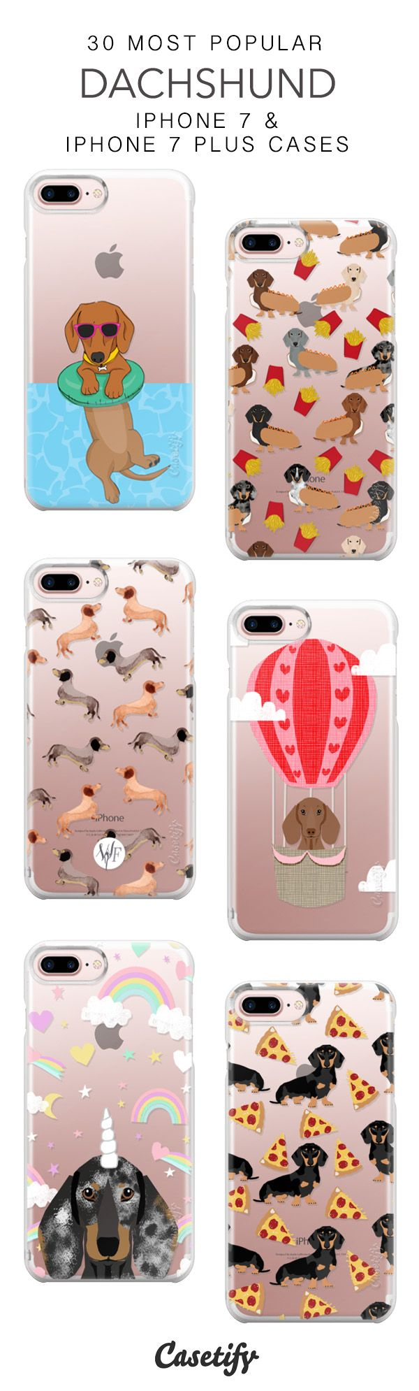 30 Most Popular Dachshund Protective iPhone 7 Cases and iPhone 7 Plus Cases. More Doggie iPhone case here > https://www.casetify.com/collections/top_100_designs#/?vc=d6tKr6R69d