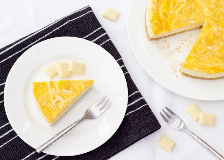 Mango & White Chocolate Cheesecake   No Bake   Easy   Refreshing