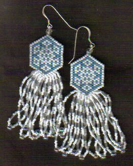 snowflake earrings... you could also make a simply strung pendant for a nice gift set.
