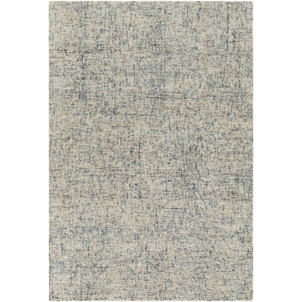 Bale Abstract Handmade Tufted Wool Navy Ivory Area Rug Modern Area Rugs Area Rugs Rugs