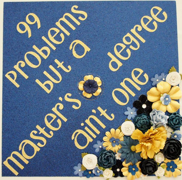 99 Probleme und ein Master-Abschluss ist nicht einer. Kundenspezifische Glitter-Staffelungs-Kappen-Dekorations-Blumen! Fertigen Sie Farben besonders an und sagen Sie durch GlitterMomz auf E…