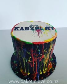 Chocolate cake filled with chocolate cake for the new go kart and paintball business here in whangarei. #karsplat #chocolate#italianmeringuebuttercream #cakesnorthland#cakeswhangarei #caketinlove