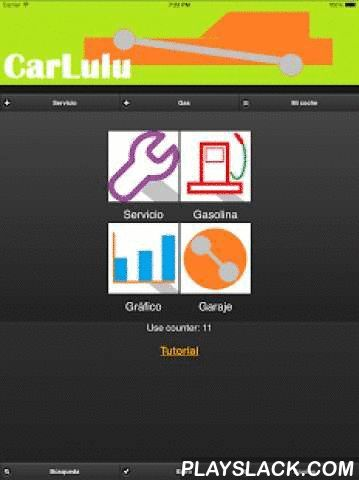 Carlulu Lite Car Service & Gas  Android App - playslack.com , *NEW WITH EDMUNDS DATABASE INFORMATIONRECORD CAR SERVICE+MAINTENANCE Air condition, battery, timing belt, brakes, coolant, filters, fuel/spark plugs, suspension, engine oil change, tires change Acar mobile log tracker  Multiple cars tracking Add your own notes Search history Advisor function to comment and suggest on your services RECORD GAS FILL-UPS Calculate fuel mileage List gas fill-ups historyCHART FUNCTION Chart to show gas…