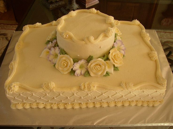 Sheet+cake+wedding+-+Buttercream,+qilted+with+pearls