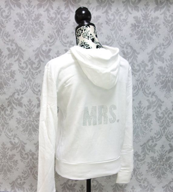 Bride Sweatshirt Jacket. Custom Rhinestone Hoodie. Mrs. Sweater. Bridesmaid Bridal Party Shirts.  Wedding gift. Bachelorette Hen Party on Etsy, $36.29 CAD                             WANT THESE FOR MY GIRLS!!!!!!!!