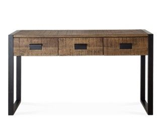 Fletcher Wooden Modern Industrial Console Table Old   Swoon Editions