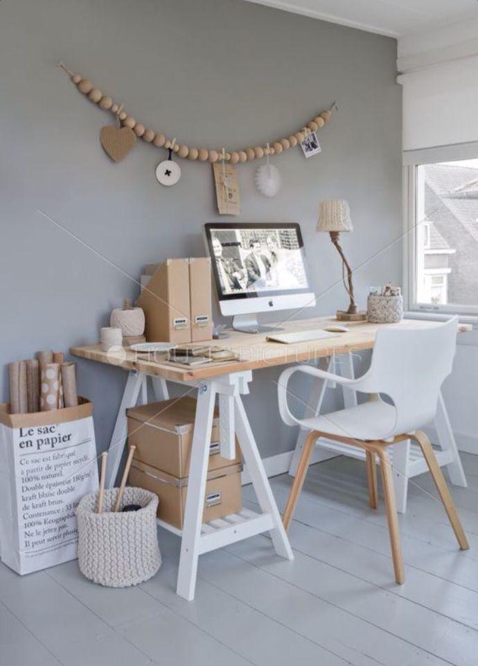 Grått och vitt. Hur ser ditt drömkontor ut? //Skanska Nya Hem #WorkSpace #Desks #Office
