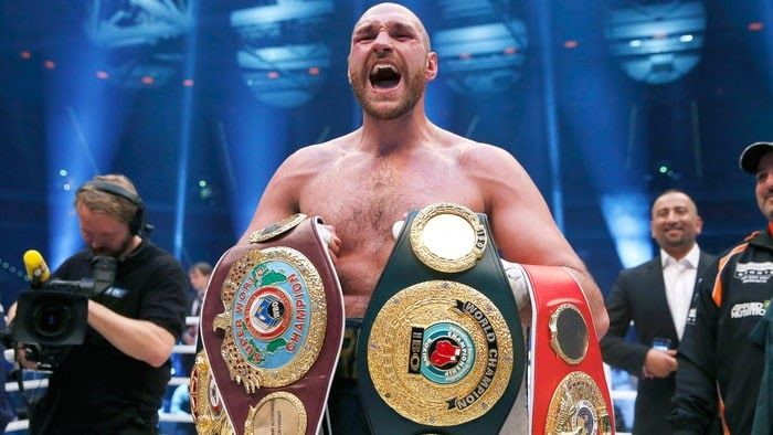 """Tyson Fury believes he would give Anthony Joshua """"a boxing lesson""""and claims Wembley has been booked for the pair to do battle in April next year.  Joshua extended his professional record to 19-0 with an epic knockout of Wladimir Klitschko at the end of last month calling out Fury in the ring in the immediate aftermath.  Fury (25-0) has not fought since defeating Klitschko in Dusseldorf in November 2015and is currently without a licence while he has struggled with mental health problems and…"""