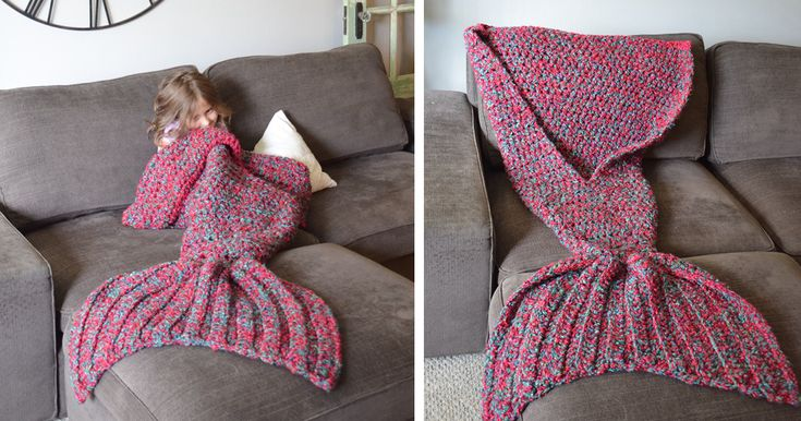 Crocheted Mermaid Tail Blankets By Melanie Campbell