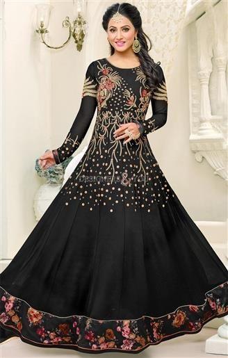 Onyx black colour dress