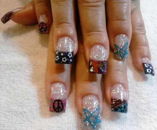 Rock Star Nails http://www.naildesignspro.com/star-nail-designs/