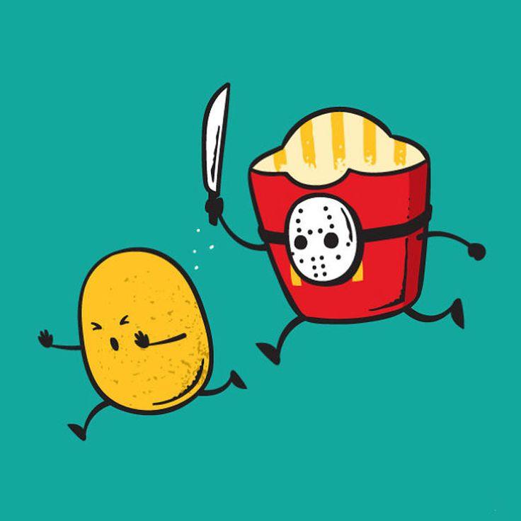Nesta divertida série, o artista Chow Hon Lam, mais conhecido como Flying Mouse 365, ilustra o cotidiano de alguns comes e bebes. Confira!