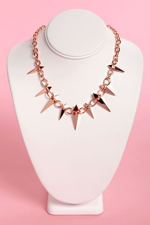 Stake House Rose Gold Spike Necklace
