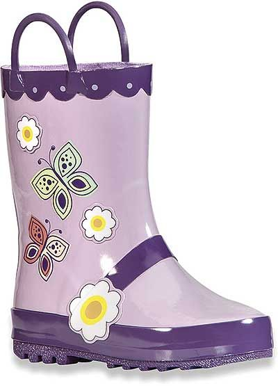 Kamik Kid's 6.75 Inch Spritz Collection Butterfly Boot Style: EK6329