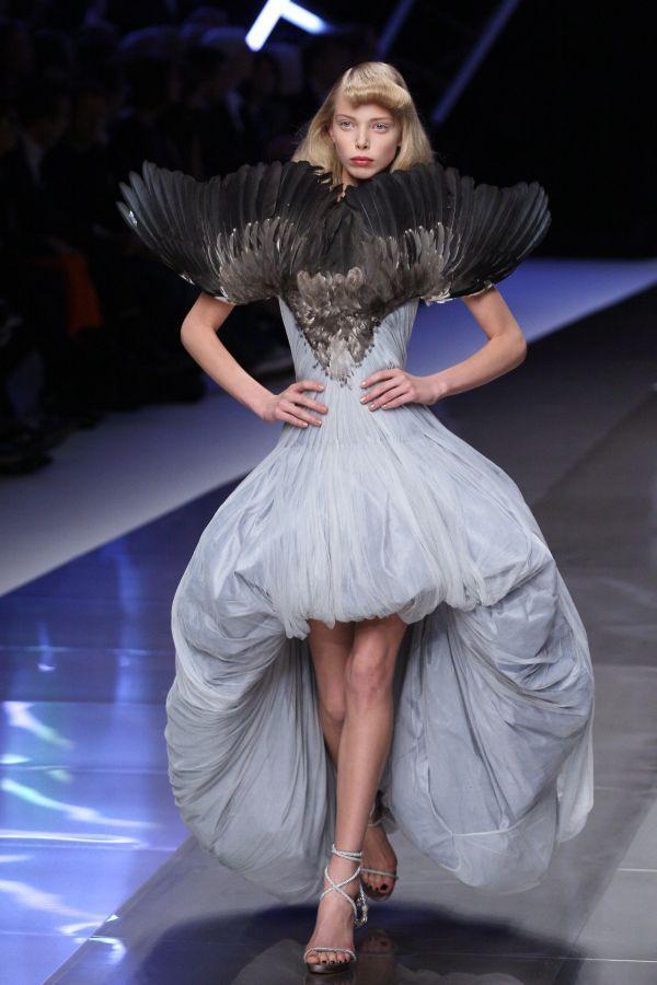 Dress from Alexander McQueen's Spring/Summer 2008 show in Paris.... RIP McQueen