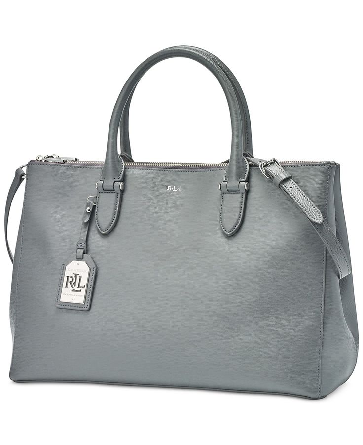 Dress up your day look with this iconic Lauren Ralph Lauren satchel inspired by fine luggage. Fashioned in luxurious leather with polished signature hardware and protective metal feet, it's sized righ