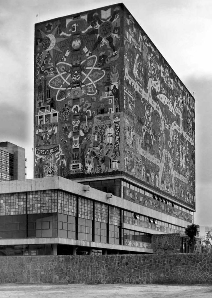 juan o' gorman: biblioteca central de ciudad universitaria, mexico city (1952)