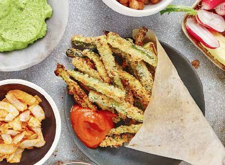 Baked Courgette Fries