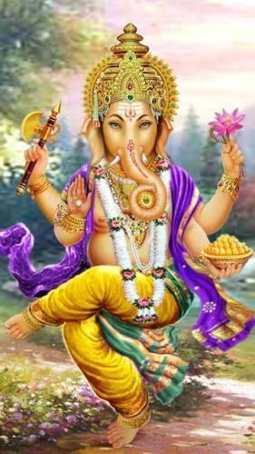 Dancing Ganesha Mobile Wallpaper