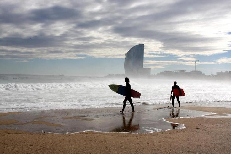 Barcelona beach. Manfred Juengling
