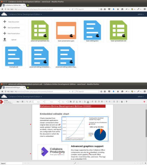 LibreOffice geht mit ownCloud online   LibreOffice ist ab sofort auch als Web-Variante für ownCloud erhältlich.   Online-Office auf dem Heimserver: ownCloud und der britische Open-Source-Spezialist Collabora haben eine spezielle Variante von LibreOffice Online für Heimserver-Systeme angekündigt. Eine erste Vorabversion mit dem sperrigen Namen Collabora Online Development Edition (CODE) ist bereits frei als Download oder via Torrent verfügbar.