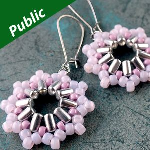 INTI EARRINGS Using Rulla and Matubo Beads  from beadsmith.com