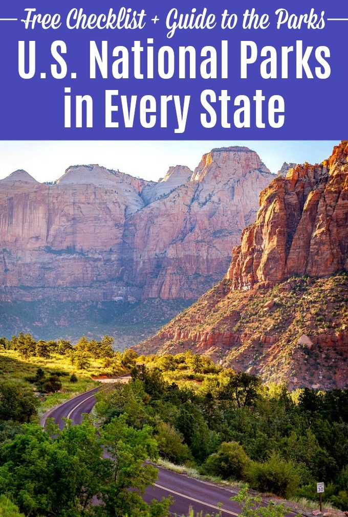 Usa National Parks List Map, Us National Parks List By State Plus Printable Free National Parks Checklist This, Usa National Parks List Map