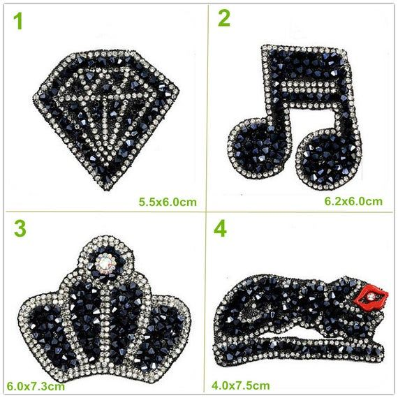 crystal beaded rainbow heart eye appliques cloth patch diy etsy clothing patches crystal beads diy patches