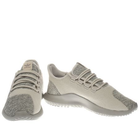 womens adidas beige tubular shadow knit trainers