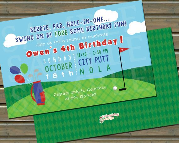 Putt-Putt Golf Birthday Party Invitations 20 by TwinspiringDesign