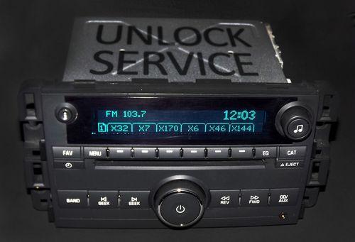 Chevy 2006-2008 Impala & Monte Carlo Car Radio Unlock Service - VIN Code Clear
