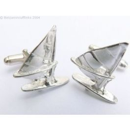 Solid Silver Windsurfers Cufflinks