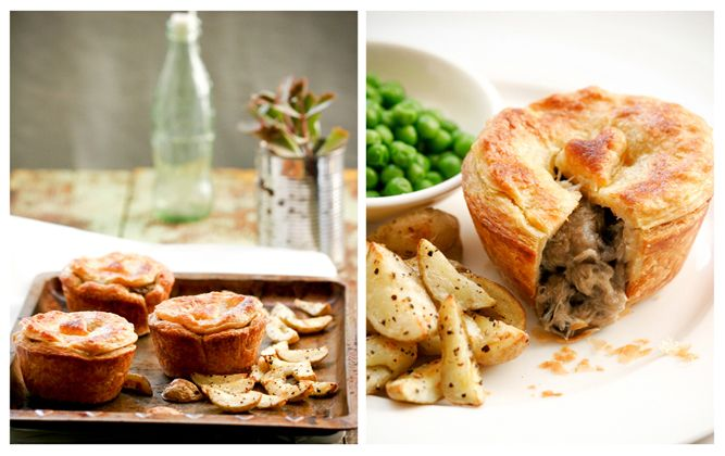 Slow-cooked chicken and mushroom pie recipe. Similar to what I ate in Johannesburg